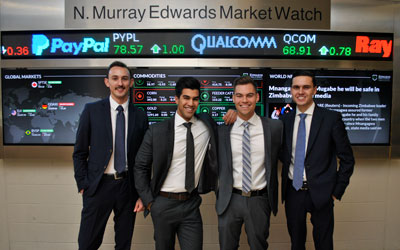 Edwards students compete in National Investment Banking Competition
